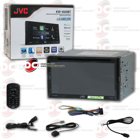 "JVC KW-V820BT 2DIN 6.8"" CAR CD DVD STEREO BLUETOOTH WITH IPHONE ANDROID CONTROL"