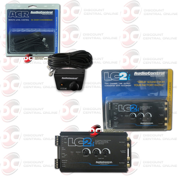 AUDIOCONTROL LC2i 2-CHANNEL LINE- OUTPUT CONVERTER WITH ACR-1 REMOTE CONTROL