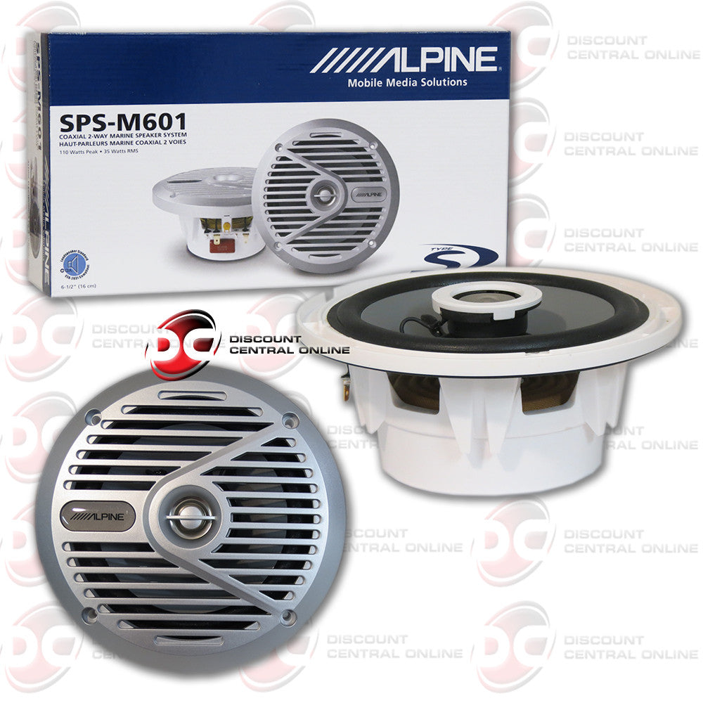 "Alpine SPS-M601 6-1/2"" Way Marine Speakers"