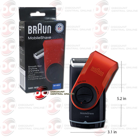 Braun M-60 Pocket Travel MobileShave in Red