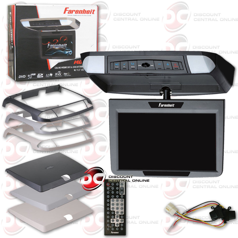 "FARENHEIT MD-1120 OVERHEAD CAR DVD ENTERTAINMENT SYSTEM WITH 11.2"" MONITOR"