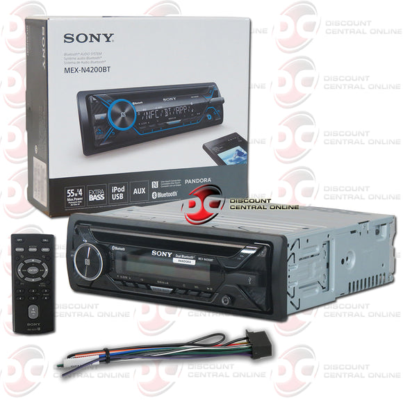 SONY MEX-N4200BT 1-DIN AM/FM CD CAR  STEREO WITH BLUETOOTH