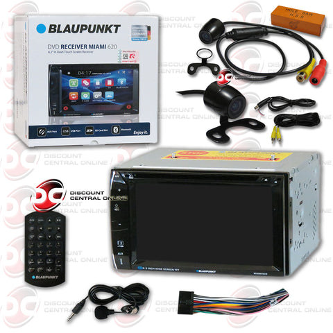 "Blaupunkt Miami 620 6.2"" Media Receiver with CD/DVD/AUX/USB/SD/AM/FM/Bluetooth Capability and 170° Rear View Camera"