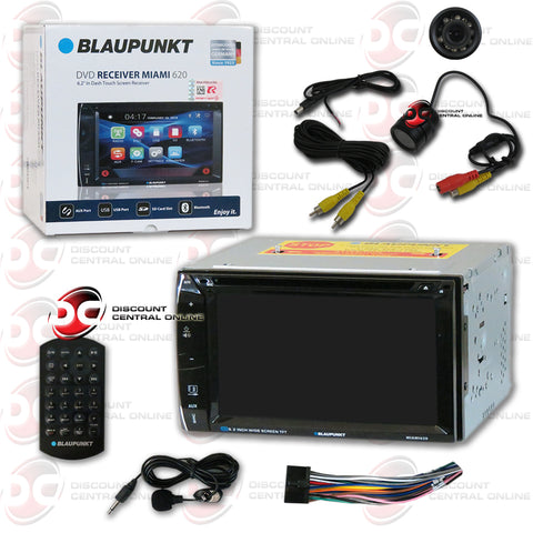 "Blaupunkt Miami 620 6.2"" Media Receiver with CD/DVD/AUX/USB/SD/AM/FM/Bluetooth Capability and Rear View Camera"