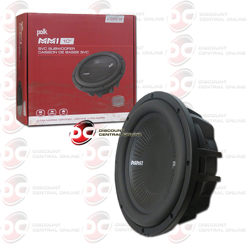 "Polk Audio MM1042SVC MM1 Series 10"" Single 4-Ohm Car Audio Subwoofer"