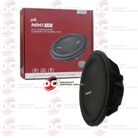 "Polk Audio MM1242DVC MM1 Series 12"" Dual 4-Ohm Car Audio Subwoofer"