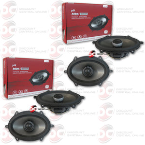 "4x Polk Audio MM572 5"" X 7"" 2-Way Car Audio Ultra Marine/boat Coaxial Speakers"