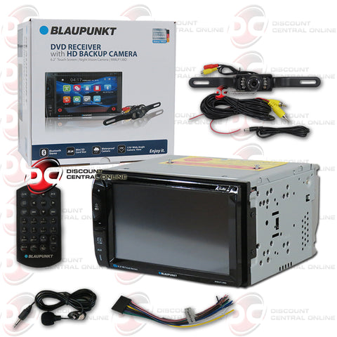 "Blaupunkt MMLP13BD 2-Din 6.2"" Car CD/DVD/ Receiver with Bluetooth Plus License Plate Camera"