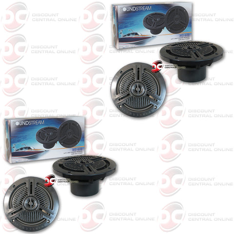 "4 x SOUNDSTREAM MS-65B 6.5"" 2-WAY CAR BOAT MARINE AUDIO COAX SPEAKERS"