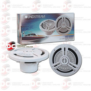 "SOUNDSTREAM-MS.65W 6.5"" BOAT MARINE SPEAKERS (WHITE)"