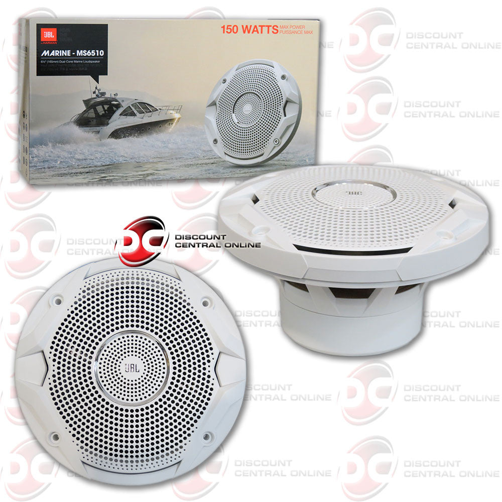 "JBL MS6510 300W 6-1/2"" MS Series Dual Cone Marine Speakers"