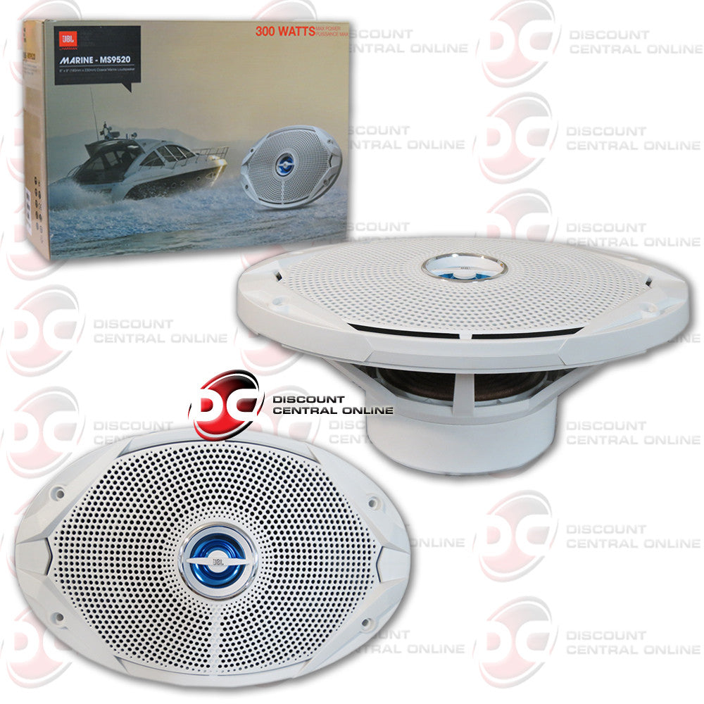 "JBL MS9520 6"" X 9"" 300w MARINE AUDIO SPEAKERS (WHITE)"