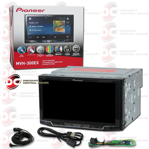"Pioneer MVH-300EX Car 2-Din 7"" Digital Media Receiver with Bluetooth"