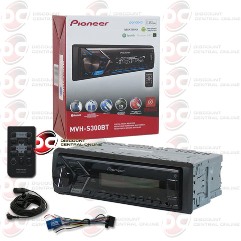 PIONEER MVH-S300BT SINGLE DIN CAR AUDIO STEREO WITH AM/FM/USB/AUX/BLUETOOTH CAPABILITY