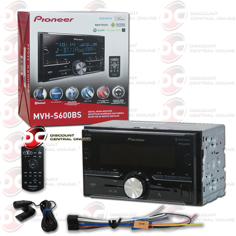 PIONEER MVH-S600BS CAR AUDIO MULTIMEDIA RECEIVER WITH AM/FM/AUX/USB/BLUETOOTH CAPABILITY