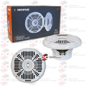 "MEMPHIS AUDIO MXA602SW 6.5""MARINE AUDIO SPEAKERS (WHITE)"
