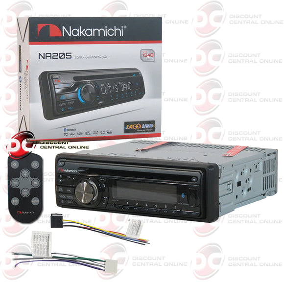 Nakamichi 1-Din Car CD Receiver with Bluetooth