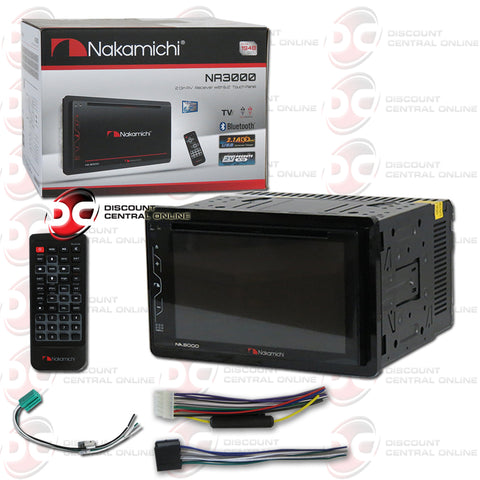 "Nakamichi NA3000 2-Din 6.2"" Car AM/FM/CD/DVD Receiver With Bluetooth"