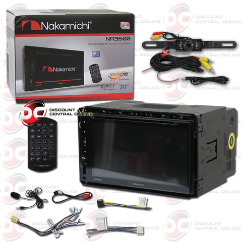 "Nakamichi NA3600 2-Din 6.8"" Car AM/FM/CD/DVD Receiver With Bluetooth (With Back-up Camera)"