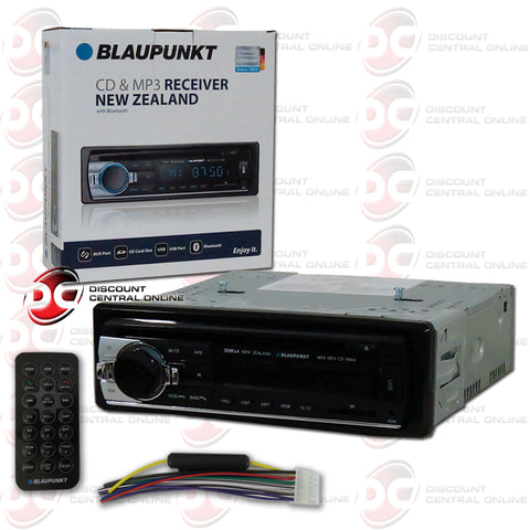 Blaupunkt New Zealand 1-Din Car CD/MP3 Receiver with Bluetooth