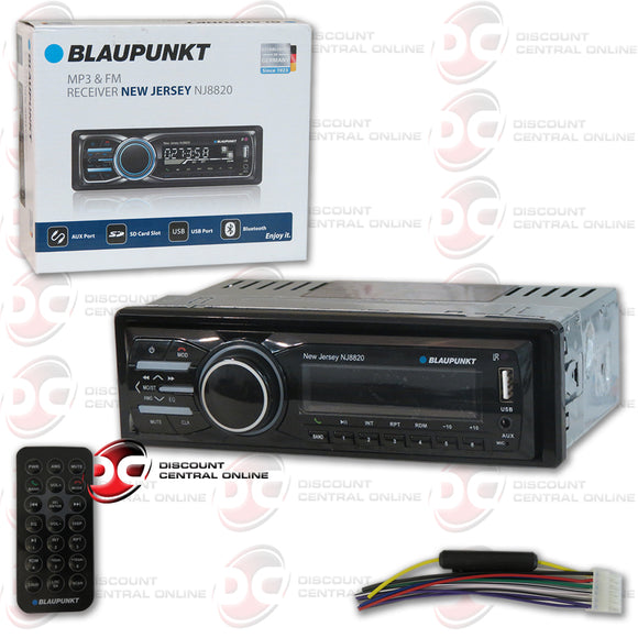 Blaupunkt New Jersey NJ8820 1-Din Media Player Car Stereo with Bluetooth