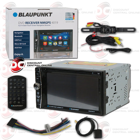 "Blaupunkt NMGPS4019 2-DIN 6.2"" Car AM/FM/CD/DVD Receiver with Bluetooth (With Back-up Camera)"