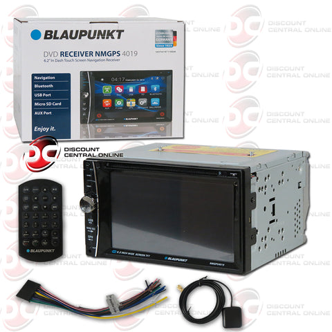 "Blaupunkt NMGPS4019 2-DIN 6.2"" Car AM/FM/CD/DVD Receiver with Bluetooth"