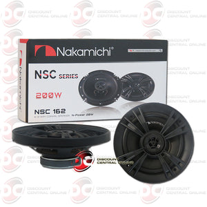 "NAKAMICHI 6"" 2-WAY CAR  COAXIAL SPEAKERS"