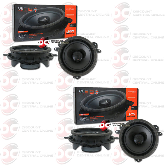 Powerbass OE652-TY 6.5-inch 2-Way Car Speakers For Select Toyota, Lexus, Scion (2 Pairs)