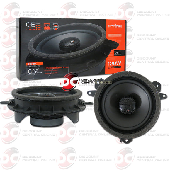 Powerbass OE652-TY 6.5-inch 2-Way Car Speakers For Select Toyota, Lexus, Scion