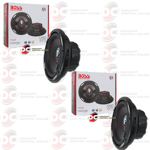 "2x Boss P100F 10"" Single 4-OHM Car Audio Subwoofer"