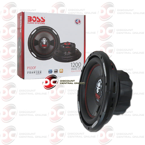 "Boss P100F 10"" Single 4-OHM Car Audio Subwoofer"