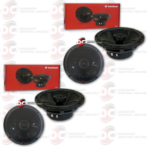 "4 x Rockford Fosgate Punch P1650 220W 6.5"" 2-Way P1 Punch Series Coaxial Speakers w/ PEI Dome Tweeter"