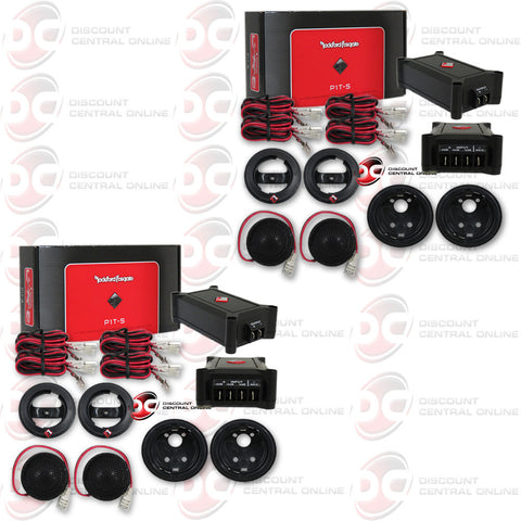 "2 x ROCKFORD FOSGATE P1T-S 1"" I-INCH CAR AUDIO PUNCH SERIES TWEETER KIT"