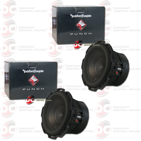 "2X ROCKFORD FOSGATE P2D2-8 8"" (250W RMS) DUAL 2-OHM CAR AUDIO SUBWOOFER (PUNCH SERIES)"