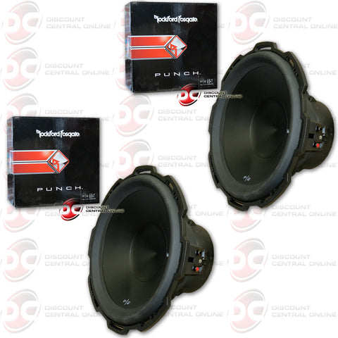 "2 x ROCKFORD FOSGATE PUNCH P2D4-15 800W MAX (400W RMS) 15"" DUAL 4-OHM CAR SUBWOOFER (PUNCH P2 SERIES )"