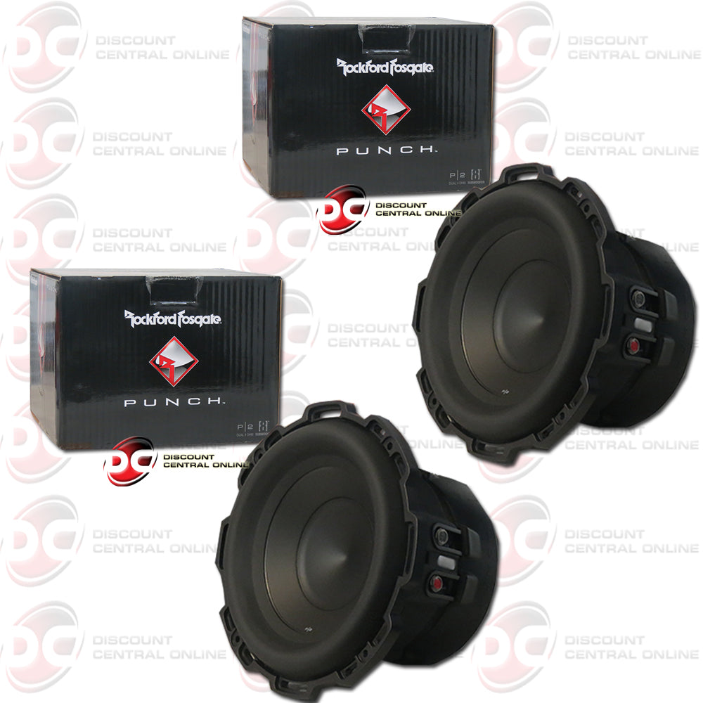 "2X ROCKFORD FOSGATE P2D4-8 8"" (250W RMS) DUAL 4-OHM CAR AUDIO SUBWOOFER (PUNCH SERIES)"
