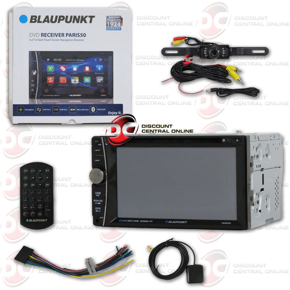 BLAUPUNKT 2DIN 6.2 TOUCHSCREEN CAR NAVIGATION DVD/CD /USB RECEIVER WITH BLUETOOTH (WITH BACK-UP CAMERA)