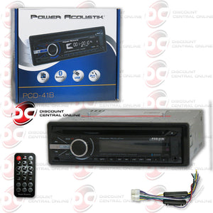 2014 POWER ACOUSTIK PCD-41B SINGLE DIN 1DIN CAR MP3 CD PLAYER FRONT USB AUX-IN BLUETOOTH