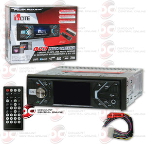 "Power Acoustik PD-348B 1-DIN 3.4"" DVD CD Car Stereo with Bluetooth"