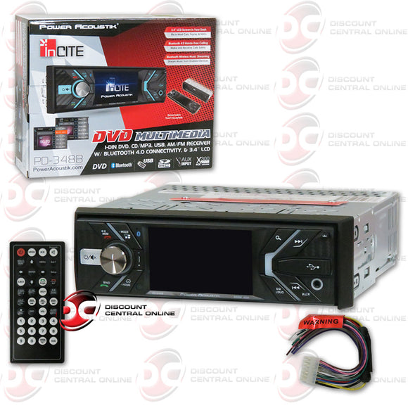 Power Acoustik PD-348B 1-DIN 3.4