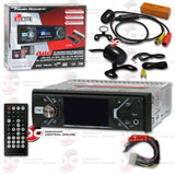 "Power Acoustik PD-348B 1-DIN 3.4"" DVD CD Car Stereo with Bluetooth (With Back-up Camera)"