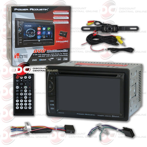 "Power Acoustik PD-621XB  2-Din 6.2"" Car AM/FM/CD/DVD With Bluetooth & SiriusXM Ready (With Back-up Camera)"