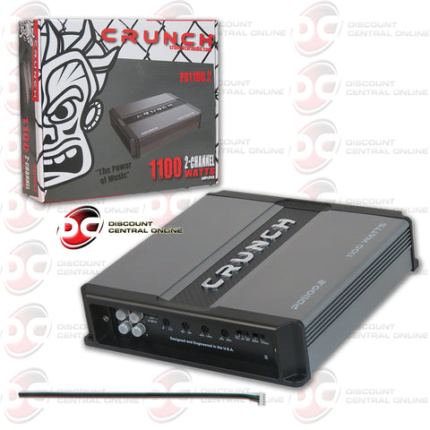 CRUNCH PD 1100.2 1100W 2-CHANNEL CLASS AB CAR AUDIO AMPLIFIER (MAX POWER DRIVE SERIES)
