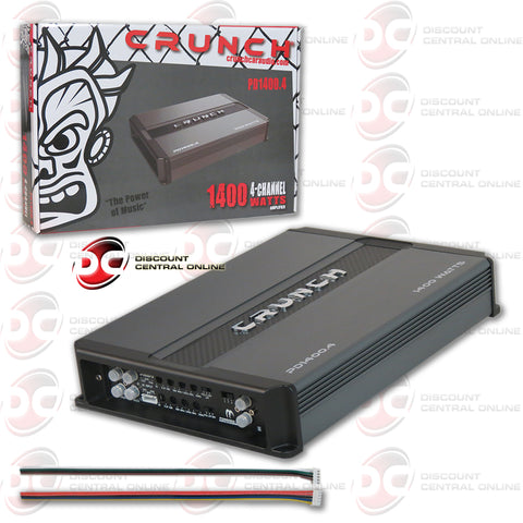 Crunch PD 1400.4 1400W Class-AB 4-channel Car Audio Amplifier (Power Drive Series)
