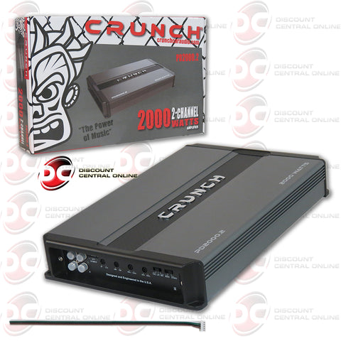 Crunch PD-2000.2 2000W Max 2-channel Car Audio Amplifier (Power Drive Series)