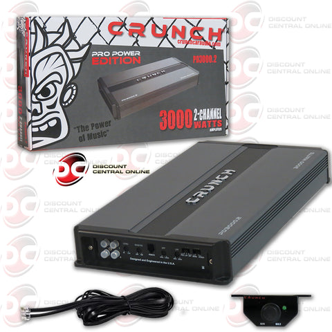 CRUNCH PD 3000.2  3000W  2-CHANNEL CAR AUDIO AMPLIFIER  (PRO POWER EDITION)