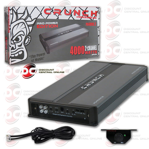Crunch PD 4000.2 4000W 2-channel Car Audio Amplifier (Pro Power Edition)