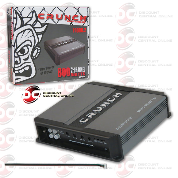 Crunch PD 800.2 800W 2-channel Car Audio Amplifier (Max Power Drive Series)