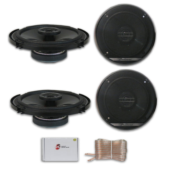 4 x Pioneer TS-G1620F 6.5-inch 2-Way Car Audio coaxial Speakers 6-1/2
